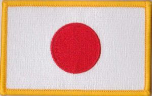 Japan Embroidered Flag Patch, style 08.